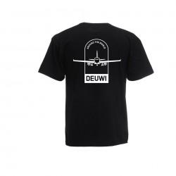 Tee-Shirt DEUWI AIRLINES - BLACK
