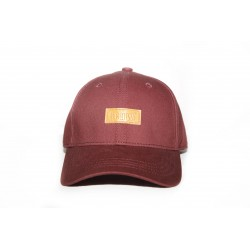 Burgundy Patch Cap