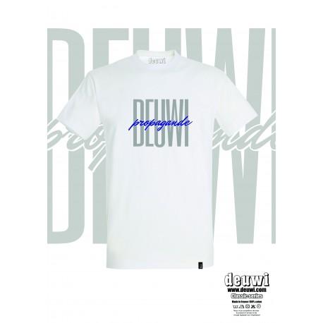 Tee-Shirt DEUWI PROPAGANDE (Blanc/Bleu)